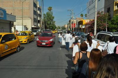 Se dirigieron hacia la Plaza Mayor de Torreón.
