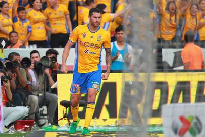 El delantero galo sumó su octavo gol en los últimos seis partidos de Tigres.
