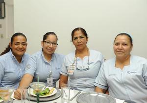 11052017 Lilia, Silvia, Lupita y Candy.