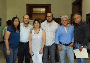 Maribel Rivas, Sergio Pérez, Aída Chamut, Oswaldo Luévanos, Fredy Peniche y Libra Pérez