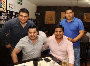 Alfredo, Ángel, Hugo y Edgar