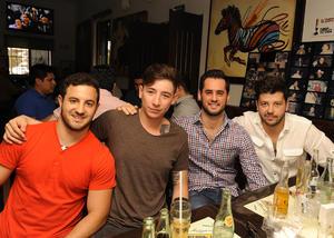 Andrés, Gerardo, Esteban y Andrés