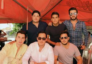 Mario, Chilipa, Marcelino, Salum, Luis y Chuy