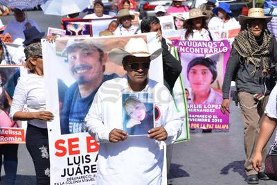 La marcha de desaparecidos se llevó a cabo el día de hoy.