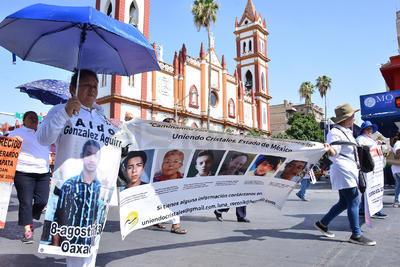 La marcha se llevó a cabo en el centro de Torreón