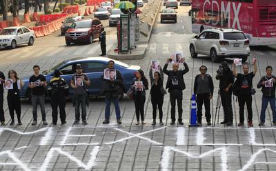 Al pie del Ángel de la Independencia se realizó la protesta.