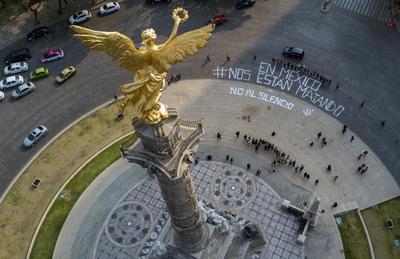 Periodistas se manifestaron tras el asesinato de Javier Valdez.