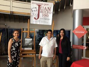 21052017 CENTENARIO DE JUAN RULFO.  Ileana Santacruz, Raúl Trujillo y Marlene Favela.