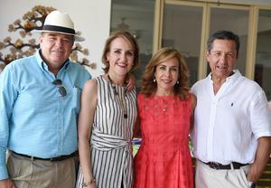 Benja, Blanca, Juanny y Alberto