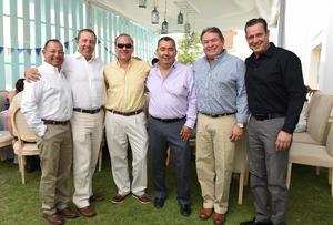 Jaime, Mario, Edgar, Roberto, Bernardo y Yeyo