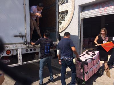 El primer camión salió de Torreón al Distrito 07.