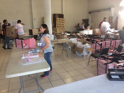El segundo cargamento es de 175 paquetes para el Distrito 08 de esta ciudad.