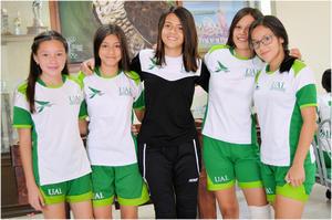 28052017 Astrid Verdeja, Valentina de la Torre, Michelle Hurtado, Olga Hernández y Yuceli Jasso.