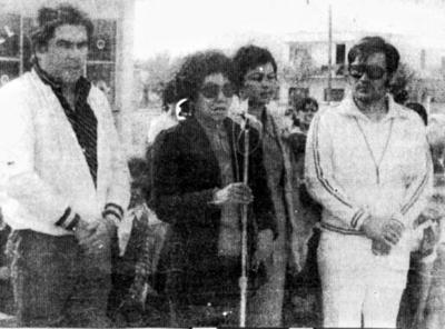 """28052017 Profr. César Marina Miravalle, representante deportivo mpal., Profra. Ana María Ramírez (f), Rosa Lozano y el Mtro. Antonio Lozoya Pérez, en la inauguración de la Esc. Prim. Fed. """"Año de Juárez"""" Zona Esc. 511 de Torreón."""