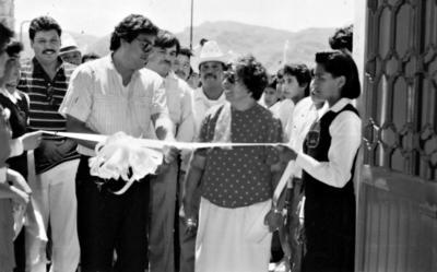 28052017 Inauguración de la Escuela Secundaria del Estado en el Ejido San Lorenzo, Mpio. de San Pedro, Coahuila, en 1989.