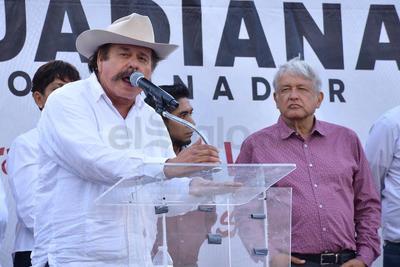 Armando Guadiana, agradeció el apoyo del Movimiento Magisterial, de José Ángel Pérez y de toda la población