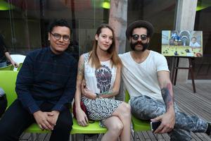 Guillermo, Saskia y Armando.