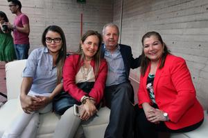 Flor Cabañas, Beatriz Sánchez, Fernando Sánchez y Blanca Galindo.