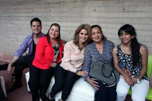 Danielo Hernández, Blanca Galindo, Aracely Diez, Gaby Esparza y Andrea.