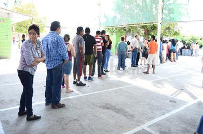Se ha registrado considerable afluencia de votantes.