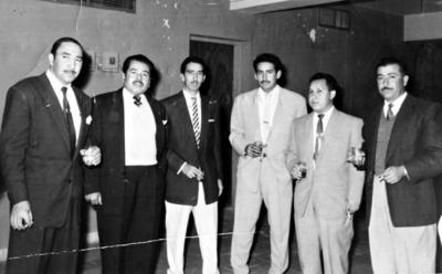 04062017 Bayardo Guerrero Sifuentes, Ignacio Torres (f), José Rangel de León (f) y José Ayup Sifuentes (f), en los años 50, en Matamoros, Coahuila.
