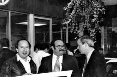 04062017 Lic. Jesús Castilla Sánchez, Lic. Jesús Reyes García y Lic. Daniel Calvert Ramírez en Monclova, Coahuila, en 1979.