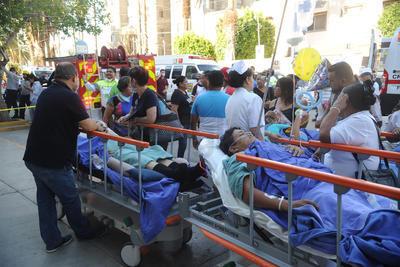 Los pacientes fueron llevados en ambulancias a distintos nosocomios de La Laguna.