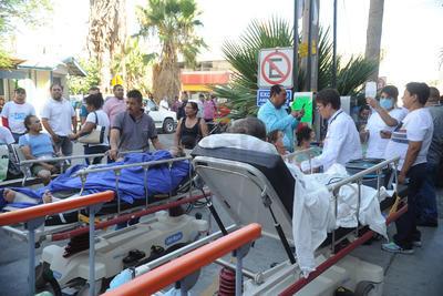 La fuga de gas de un tanque estacionario provocó que se tuviera que realizar una evacuación de pacientes, familiares de éstos y del personal médico.