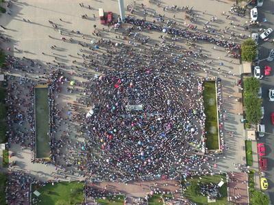 Organizadores del evento calculaban una afluencia de más de 20 mil personas, sin embrago, un funcionario de la Secretaría de Gobernación señaló que fueron alrededor de 40 mil las personas que acudieron al evento.