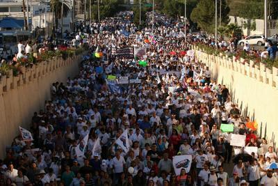 Partieron de la escuela Ateneo Fuente hacia la Plaza de Armas en donde realizaron un mitin acompañados de líderes nacionales como Ricardo Anaya y ademas del gobernador con licencia Moreno Valle.