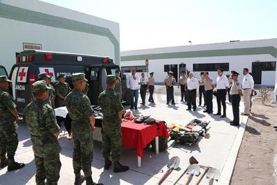 El Comandante de la Décima Zona Militar reiteró la disposición para apoyar en los temas de seguridad en los que sea requerido su auxilio.