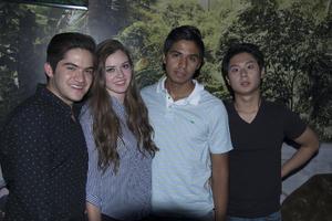 09062017 Luiz Felipe, Bárbara, Luna y Flavio.
