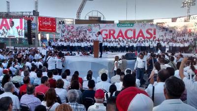 """""""Todo el priismo nacional se siente orgulloso del priismo de Coahuila. Esta victoria se la debemos a todos los ciudadanos que votaron"""", dijo."""