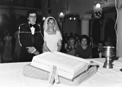 11062017 Sr. Miguel Ángel Díaz Cueto e Irma Garza Ramírez el 25 de junio de 1977. Actualmente, estarán cumpliendo 40 años de matrimonio.