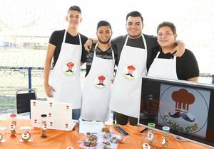 12062017 EN EVENTO ESCOLAR.  Andrés, Miguel, Saúl y Jophsel.