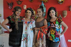 11062017 RECIENTE EVENTO SOCIAL.  Silvia, Gaby Sánchez, Angélica y Silvia Lizeth.