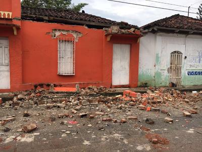 """""""Se registran afectaciones por sismo en Escuela y vivienda del municipio de Frontera Hidalgo"""", escribió Protección Civil estatal en su cuenta de Twitter."""