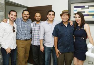 17062017 Esteban, Andy, Pedro, Facio, Roberto y Nancy.