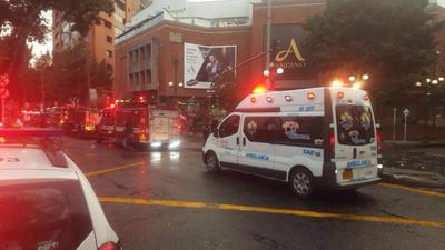El atentado ocurrió hacia las 17.00 hora local (22:00 GMT) en los baños del segundo piso del Centro Comercial Andino, en el norte de Bogotá.