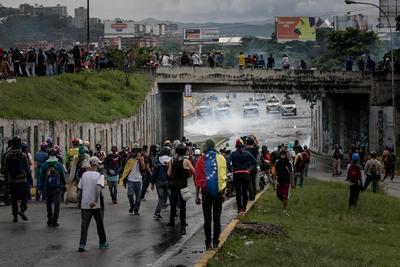 Efectivos de la Guardia Nacional Bolivariana (GNB) fueron quienes reprimieron la manifestación de esta ocasión.