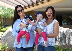 21062017 EN FAMILIA.  Mayte Garcia con Luciana y Lorena Castañeda con Lorena Córdoba.