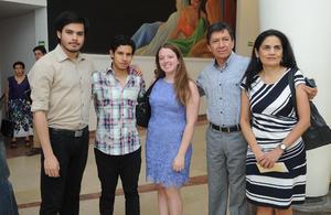 23062017 Ricardo, Óscar, Paulina, Ricardo y María Elena.