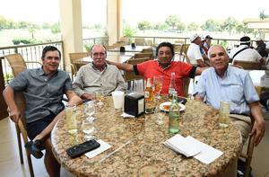 José Ramón, Eugenio, Everardo y Jesús