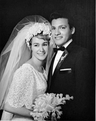 25062017 Mercedes Garza de Ortega y Francisco Ortega Ayala el día de su boda el 11 de junio de 1967.