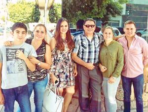 26062017 LO FELICITAN POR EL DÍA DEL PADRE.  Miguel Gómez Chavero con sus hijos y nieto: Santiago, Rocío, Sandy, Jessy y Miguel.