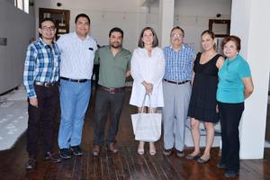 30062017 Juan Antonio, Armando, Ricardo, Brenda, Jorge, Sonia y Carola.
