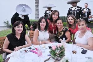 02072017 FIESTA SORPRESA.  Lupita, Carmen, Luz Amalia, Ana Laura, Marichelo y Edna.