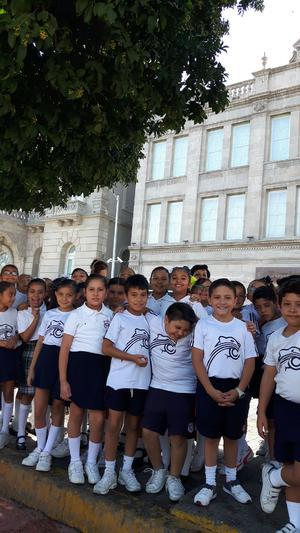 03072017 DE VISITA.  Alumnos de tercero de primaria del Colegio Cervantes Bosque en su visita al Canal de la Perla con sus maestras, Nancy, Ángeles y Rosy.