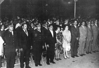 02072017 Acompañando al Alcalde José Solís, su señora esposa e integrantes del cabildo en una ceremonia cívica hace algunos años.