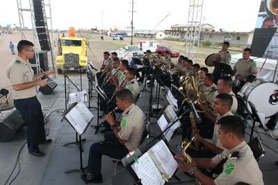 Tocó en el evento la Banda de Guerra de la Comandancia de la III Región Militar.